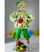 """Карнавальный костюм для мальчика """"Яблоко"""" люкс"""