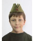 Военная пилотка со звездой детская