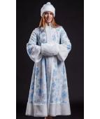 """Карнавальный костюм """"Снегурочка мех для взрослых"""""""