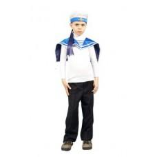 Карнавальный костюм бескозырка с воротником матроса