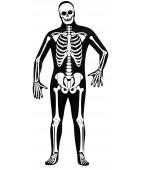 Костюм кожи Зентай Скелет