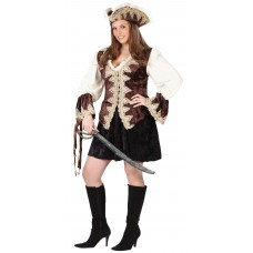 """Карнавальный костюм """"Пиратка бархат для взрослых"""""""