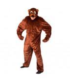 """Карнавальный костюм """"Медведь бурый комбинезон для взрослых"""""""