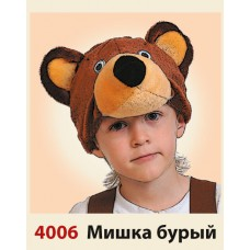 "Карнавальная шапочка ""Медведь"""
