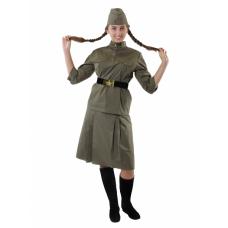 """Карнавальный костюм """"Солдат ВОВ женский для взрослых"""""""