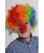 Парик клоуна разноцветный детский