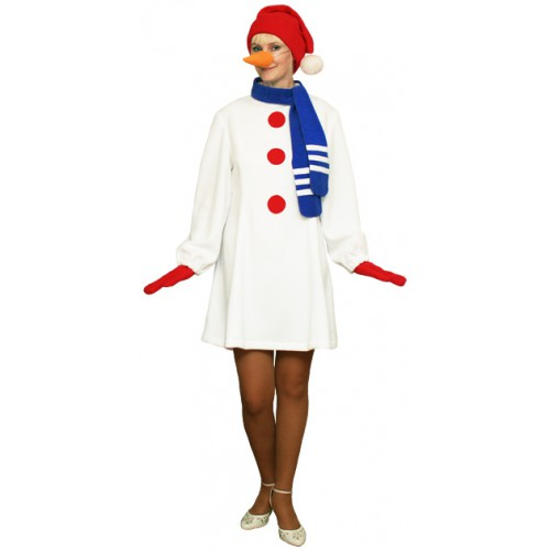 """Карнавальный костюм """"Снеговик женский для взрослых"""" клин - photo#44"""