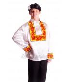 """Карнавальный костюм """"Русский народный мужской Хохлома белый"""""""