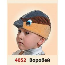 """Карнавальная шапочка """"Воробей"""""""