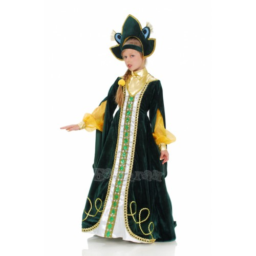 """Карнавальный костюм """"Царевна-лягушка с кокошником"""" купить - photo#16"""