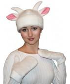 """Карнавальная шапочка """"Коза + варежки для взрослых"""""""
