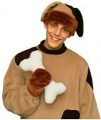 """Карнавальная шапка """"Собака+варежки для взрослых"""""""
