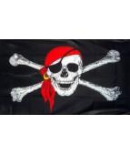 Флаг Пирата большой с Веселым Роджером 87х62 см