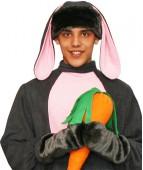 Карнавальная шапочка Заяц серый+варежки для взрослых