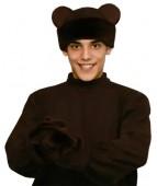 """Карнавальная шапка """"Медведь+варежки для взрослых"""""""