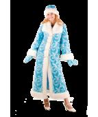 Карнавальный костюм Снегурочка мех для взрослых