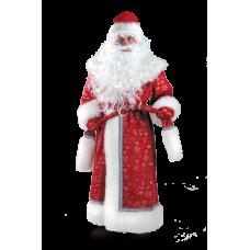 """Взрослый карнавальный костюм """"Дед Мороз Плюш"""""""