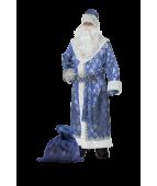 """Карнавальный костюм """"Дед Мороз синий для взрослых сатин"""""""