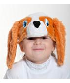 """Карнавальная шапочка """"Собака Спаниэль"""""""