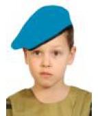 Военный голубой берет