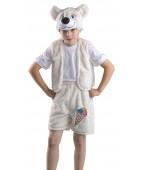 """Карнавальный костюм """"Белый медведь с вышивкой"""""""