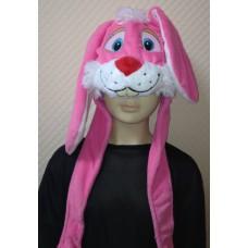 """Карнавальная шапочка """"Зайка розовая"""""""
