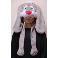 """Карнавальная шапочка """"Заяц серый"""""""