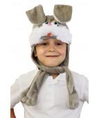 """Карнавальная шапочка """"Заяц серый 2"""""""