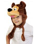 """Карнавальная шапочка """"Бурый медведь"""""""
