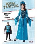 """Карнавальный костюм """"Принцесса в голубом для взрослых"""""""