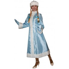 """Карнавальный костюм """"Снегурочка тафта макси для взрослых"""""""