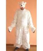 """Карнавальный костюм """"Медведь белый комбинезон для взрослых"""""""