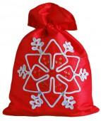 """Мешочек для новогодних подарков 23х38 """"Снежинка"""" (2 цвета)"""