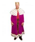"""Карнавальный костюм """"Король мантия фиолет для взрослых"""""""