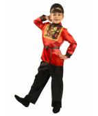 """Карнавальный костюм """"Русский народный Хохлома для мальчика"""""""
