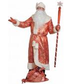 """Карнавальный костюм """"Дед Мороз парча с норкой для взрослых"""""""