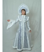 """Карнавальный костюм """"Снегурочка в кокошнике для взрослых"""""""