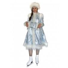 """Карнавальный костюм  """"Снегурочка голубая жаккард для взрослых"""""""