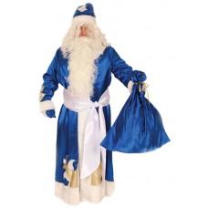 """Карнавальный костюм """"Дед Мороз синий с узором"""""""