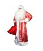 """Карнавальный костюм """"Дед Мороз красный жаккард (3 цвета) """""""