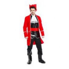 """Карнавальный костюм """"Пират в черно-красном для взрослых"""""""