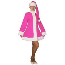 """Карнавальный костюм """"Снегурочка в розовом (4 цвета) для взрослых"""""""