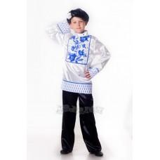 """Карнавальный костюм """"Гжель для мальчика рубашка"""""""